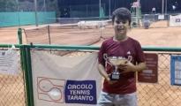 TENNIS/ Il tarantino Christian Pizzolante secondo al campionato regionale Under 12 e vicecampione regionale