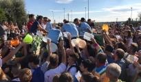 PALAGIANO - Processione di fedeli in campagna per onorare la Madonna della Stella