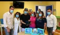 LE BUONE NOTIZIE/ Gli alunni e gli insegnanti del Pertini di Taranto donano tablet e casse ai degenti di Oncoloematologia Pediatrica Nadia Toffa