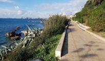 Completamente ripulita la passeggiata a metà costa del Lungomare di Taranto.