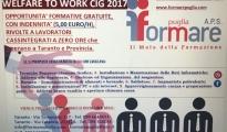 CORSI DI FORMAZIONE RIVOLTI AI CASSINTEGRATI A ZERO ORE DI TARANTO E PROVINCIA. PREVISTA UNA INDENNITA' DI 1.050,00 EURO.