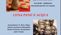 SOLIDARIETA' - Cena a pane e acqua del movimento Shalom per raccogliere fondi e acquistare un ecografo per il centro Maternità di Koudougou