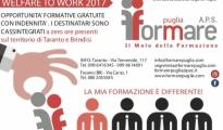 FORMAZIONE: WELFARE TO WORK CIG 2017. FORMARE PUGLIA DA AVVIO ALLE ATTIVITA' FORMATIVE PER I LAVORATORI A ZERO ORE