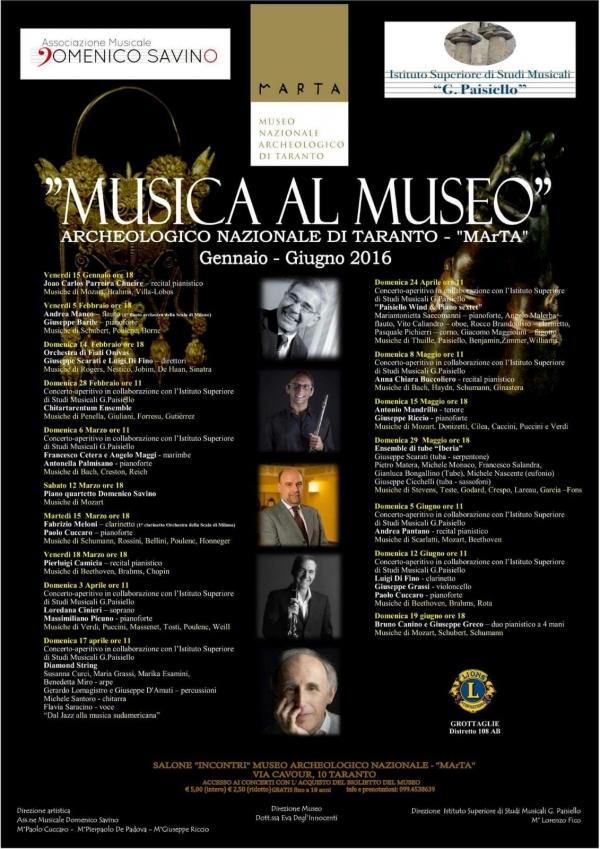 pretty nice 3a584 6f540 Giornale di Taranto - APPUNTAMENTI - MarTa in musica, l ...